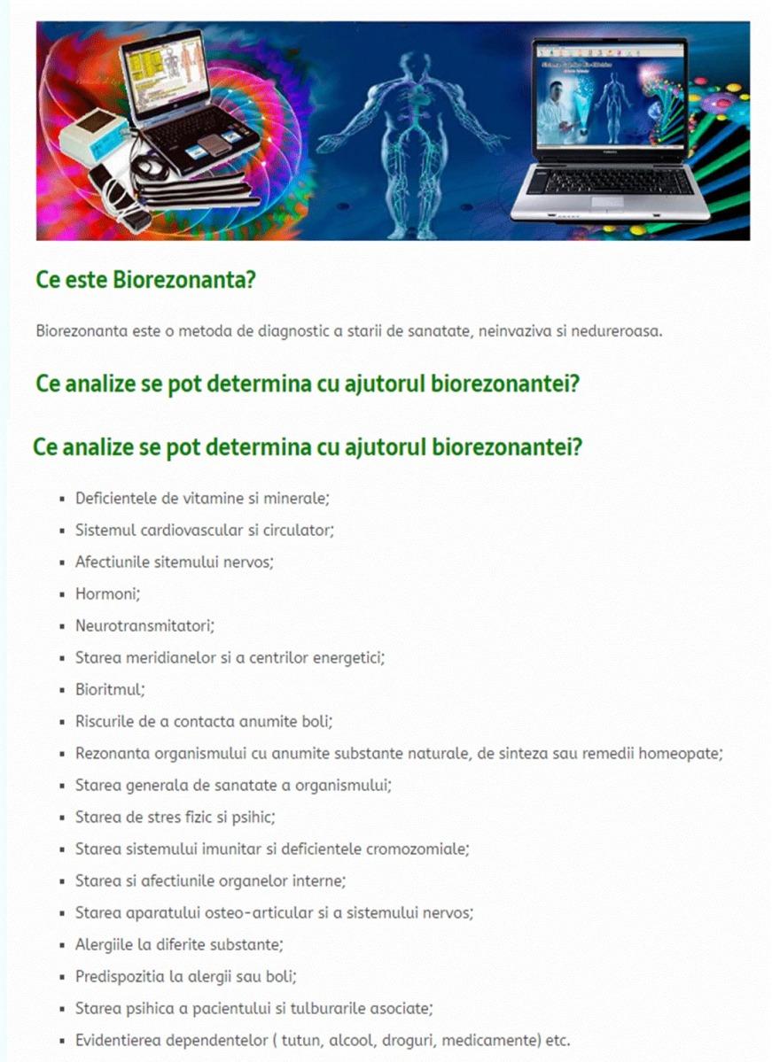 23 martie Biorezonanta SCIO si consultatie nutritie, cu specialist Dan Draghici